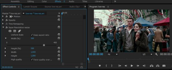 How to upscale video with Super Resolution plugin in Adobe Premiere Pro
